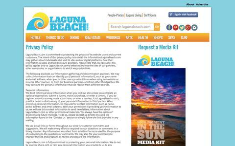 Screenshot of Privacy Page lagunabeach.com - Laguna Beach Hotels and Resorts - Laguna Beach Accommodation - Laguna Beach Inns - Montage Laguna Beach - captured Oct. 1, 2014