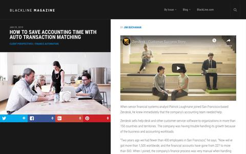 Screenshot of Case Studies Page blackline.com - How to Save Accounting Time With Auto Transaction Matching | BlackLine Magazine - captured Nov. 29, 2019