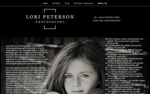 Screenshot of Press Page loripetersonphotography.com - Press-Lori Peterson Photography - captured Dec. 13, 2015