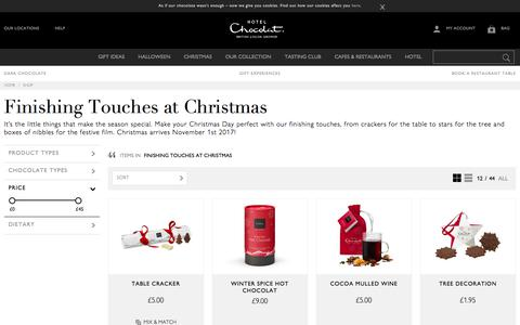 Christmas Finishing Touches by Hotel Chocolat