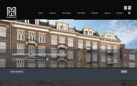 Screenshot of Home Page mthmakelaars.nl - Merel & Ter Haar MakelaarsMTH Makelaars Amsterdam - Merel & Ter Haar Makelaars - captured Dec. 20, 2015