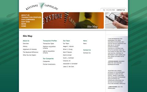 Screenshot of Site Map Page keystonecapital.com - Keystone Capital, Inc. - captured Oct. 6, 2014