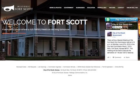 Screenshot of Home Page fscity.org - Home - captured June 24, 2016