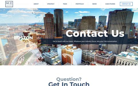 Screenshot of Contact Page mcpartners.com - Contact - MC Partners - MC Partners - captured July 24, 2018