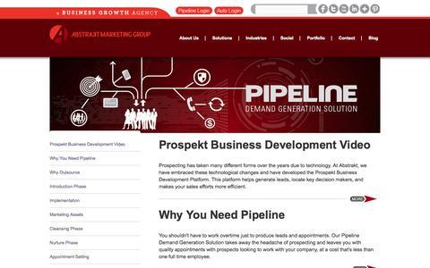 Screenshot of abstraktmg.com - Pipeline | Demand Generation Solution | Abstrakt Marketing Group    | Abstrakt Marketing Group - captured Oct. 11, 2014