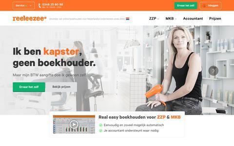 Screenshot of Home Page reeleezee.nl - Reeleezee - captured June 22, 2019