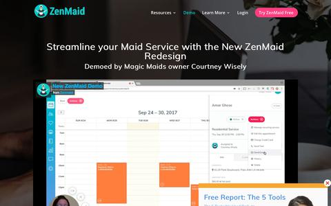 The New and Improved ZenMaid Redesign Demo