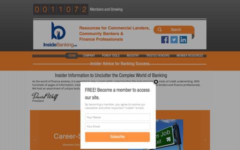 Screenshot of Home Page insidebanking.net - insidebanking - captured Jan. 8, 2016