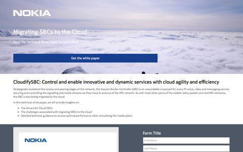 Screenshot of Landing Page nokia.com - Nokia - captured March 24, 2017