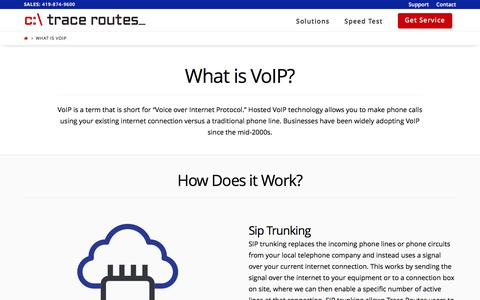 Screenshot of tracerts.com - What is VoIP - Trace Routes - captured March 29, 2017