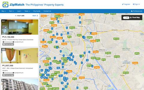 Screenshot of Maps & Directions Page zipmatch.com - ZipMatch - captured Sept. 17, 2014