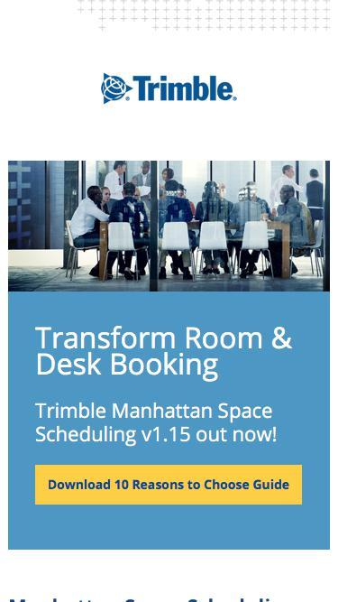 Manhattan Space Scheduling v1.15 - Transforming Room & Desk Booking