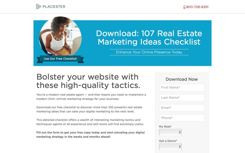 Free Placester Checklist: 107 Real Estate Marketing Ideas