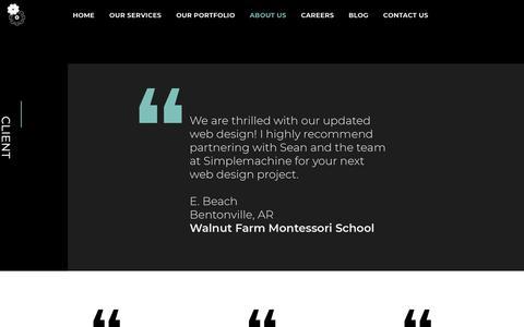 Screenshot of Testimonials Page simplemachinedesigns.com - Web Design & Online Marketing   Testimonials & Reviews   Simplemachine - captured Oct. 20, 2018
