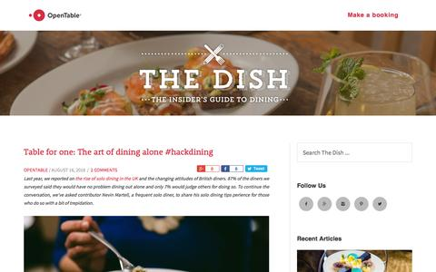 Screenshot of Blog opentable.co.uk - opentable.co.uk blog - Insider's Guide to Dining - captured Aug. 21, 2016