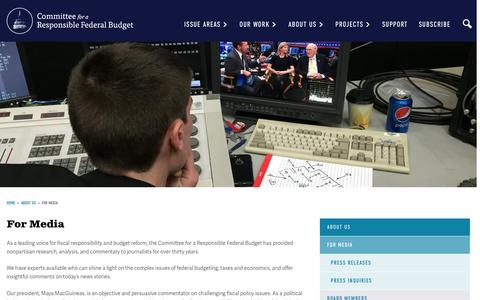 Screenshot of Press Page crfb.org - For Media | Committee for a Responsible Federal Budget - captured Nov. 9, 2016
