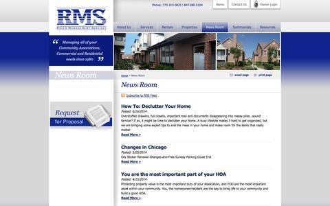 Screenshot of Press Page rosenmanagement.com - Rosen Management's Blog and News Room - captured Oct. 7, 2014