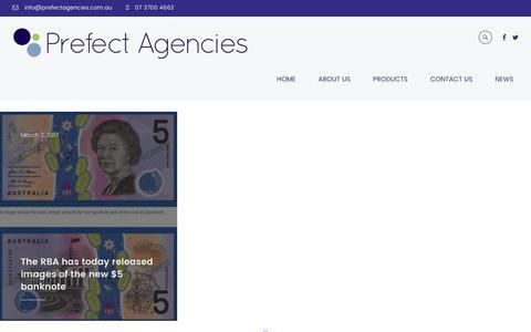 Screenshot of Press Page prefectagencies.com.au - News - Prefect Agencies - captured May 20, 2017