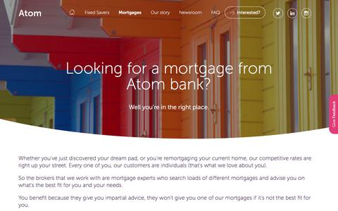Looking for an Atom bank mortgage?