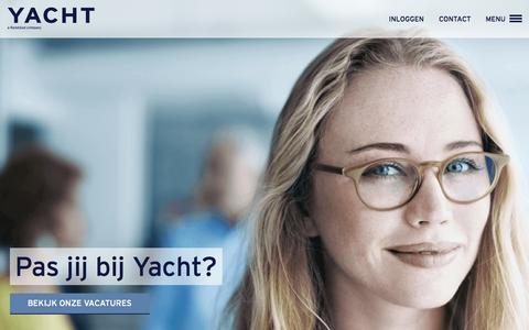 Screenshot of Home Page yacht.nl - Werken via Yacht - YACHT - captured June 16, 2015