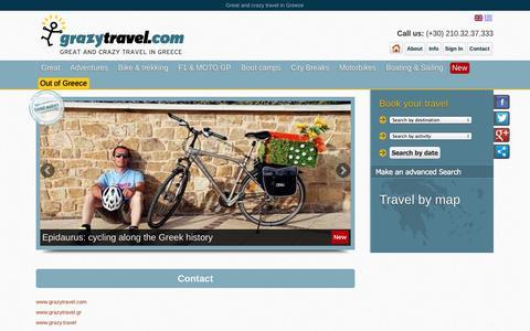 Screenshot of Contact Page grazytravel.com - Contact us | Grazy travel - captured Sept. 30, 2014