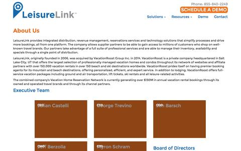 Screenshot of About Page leisurelink.com - About Us - LeisureLink - captured Oct. 28, 2014