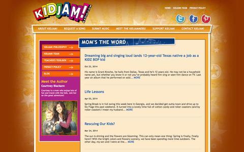 Screenshot of Blog kidjamradio.com - KIDJAM! Radio - Blog - captured March 15, 2016