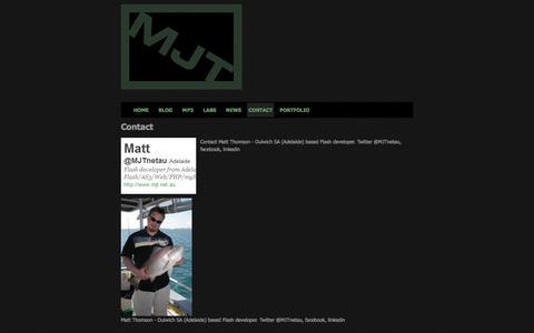 Screenshot of Contact Page mjt.net.au - MJT »  Flash developer in Adelaide, Australia - captured Nov. 18, 2016