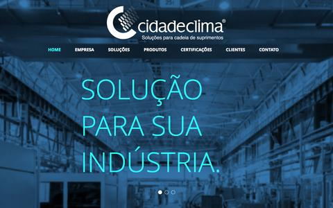 Screenshot of cidadeclima.com.br - Cidade Clima - Soluções em Componentes Industrias e Gráficas - captured June 17, 2015