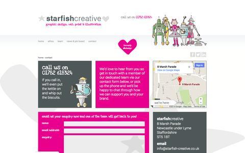 Screenshot of Contact Page starfish-creative.co.uk - Contact « Starfish Creative Starfish Creative - captured Oct. 9, 2014