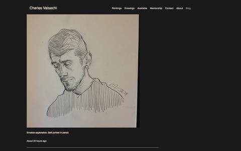 Screenshot of Blog charlesvalsechi.com - Art of Charles Valsechi - captured Oct. 4, 2014