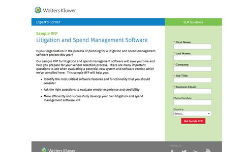 Screenshot of Landing Page datacert.com - Sample RFP: Litigation and Spend Management Software - captured Aug. 17, 2016
