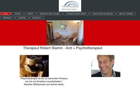 Screenshot of Home Page psychotherapiebgl.de - Psychotherapeut - Home - captured June 10, 2016