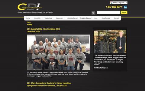 Screenshot of Press Page connectivedesign.com - News | CDI - captured Sept. 25, 2018