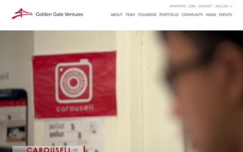 Screenshot of Home Page goldengate.vc - Golden Gate Ventures - captured Jan. 20, 2016