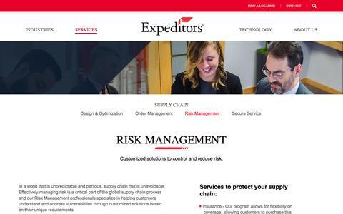 Risk Management | Expeditors International of Washington, Inc.