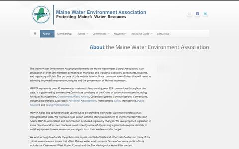 Screenshot of About Page mwwca.org - About the Maine Water Environment Association   Maine Water Environment Association - captured Oct. 4, 2014