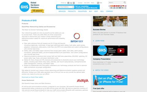 Screenshot of Products Page globalhardwaresolutions.com - Products - GHS - captured Oct. 1, 2014