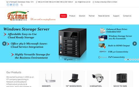 Screenshot of Home Page richman.com.bd - Home   Richman Informatics - captured Feb. 15, 2016