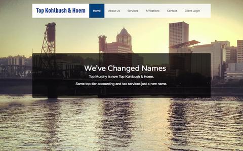 Screenshot of Home Page tkhllp.com - Home - Top Kohlbush & Hoem - captured Oct. 7, 2014