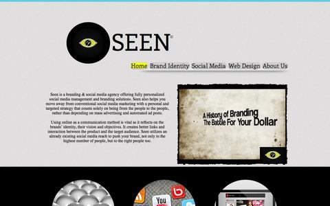 Screenshot of Home Page seen-eg.com - Seen Social Media Management   Branding Egypt - captured Oct. 3, 2014