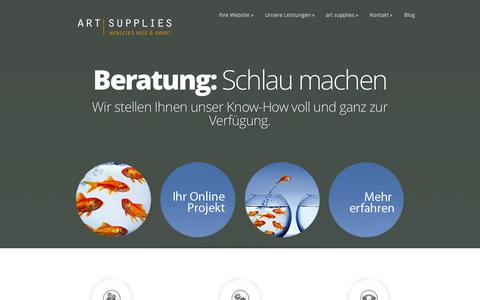 Screenshot of Home Page art-supplies.de - art supplies - Websites nice & smart - captured Sept. 24, 2014