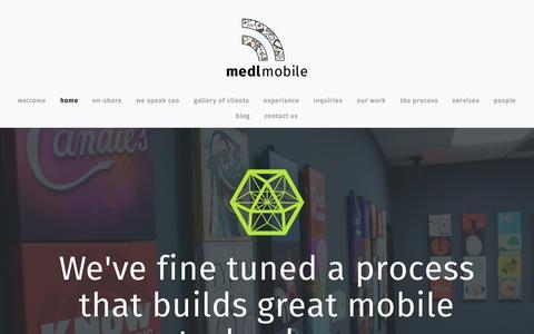 Screenshot of Home Page medlmobile.com - medlmobile - captured Nov. 12, 2016