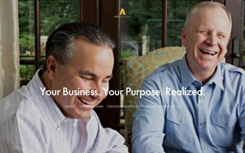 Screenshot of Home Page theangeladvisors.com - The Angel Advisors - captured Jan. 11, 2016