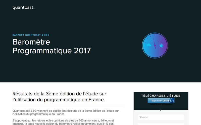 Quantcast | Résultats du Baromètre Programmatique EBG & Quantcast 2017