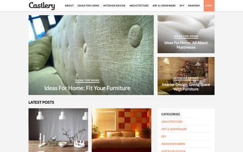 Screenshot of Blog castlery.com - Interior Design, Architecture, Scandinavian Design & More | Castlery Blog - captured Sept. 19, 2014