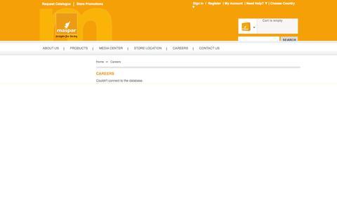 Screenshot of Jobs Page maspar.com - Online Shopping Store- Home Furnishings and Woven Fabrics| Maspar - captured Oct. 27, 2014