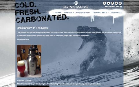 Screenshot of Blog drinktanks.com - Tap Handles   Drink Tanks in the News - captured Sept. 30, 2014