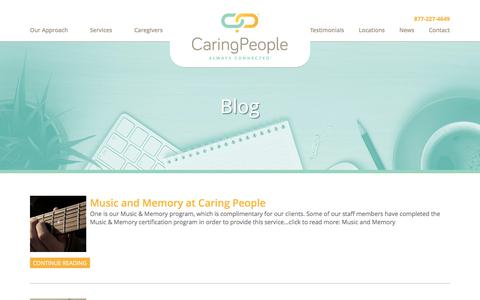 Screenshot of Blog Press Page caringpeopleinc.com - In Home Care for Elderly- Caring People's Blog - captured Oct. 24, 2016