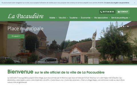 Screenshot of Home Page la-pacaudiere.fr - La Pacaudière - captured June 2, 2016